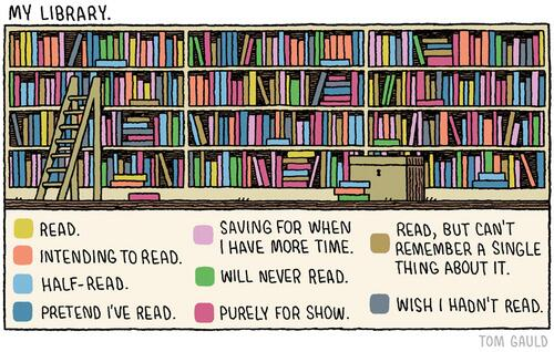 A cartoon by Tom Gauld, Guardian Review.